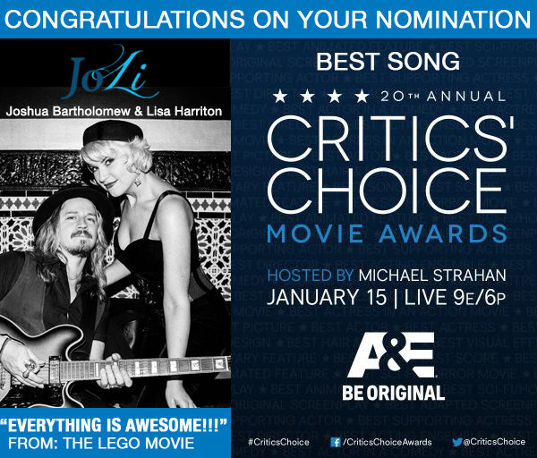 Critics Choice Best Song Nomination